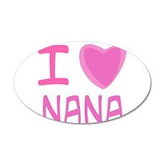 Pink I Heart (Love) Nana 22x14 Oval Wall Peel