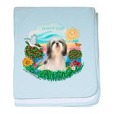 Happy Day Shih Tzu #3 baby blanket