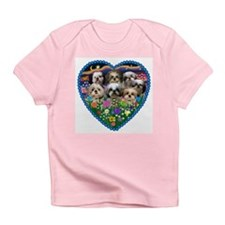 Shih Tzus in Heart Garden Infant T-Shirt