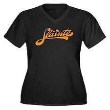 Slainte Women's Plus Size V-Neck Dark T-Shirt