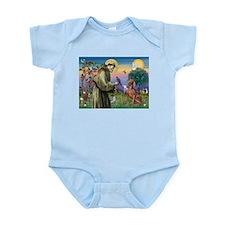St. Francis & Weimaraner Infant Bodysuit
