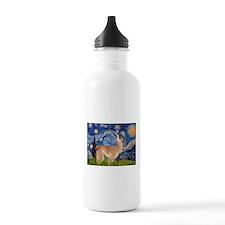 Starry Night Llama Water Bottle