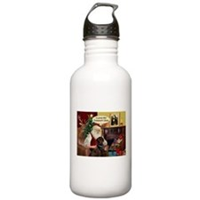 Santa's Chocolate Lab (TH) Water Bottle