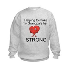 Grandpa Heart Awareness Sweatshirt