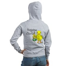Bagpipe Chick Text Zip Hoodie