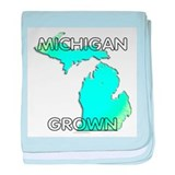 Michigan grown baby blanket