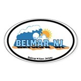 Belmar NJ - Waves Design Decal