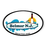 Bellmar NJ - Surf Design Decal