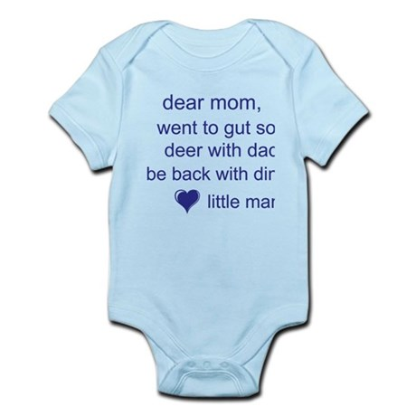 gut deer with dad Infant Bodysuit