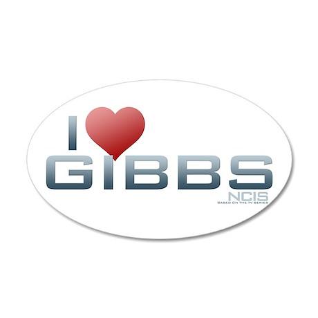 I Heart Gibbs 38.5 x 24.5 Oval Wall Peel