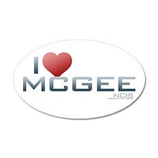 I Heart McGee 38.5 x 24.5 Oval Wall Peel