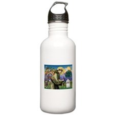 St Francis / Coton de Tulear Water Bottle