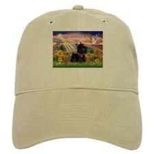 Autumn Angel Scottie Baseball Cap