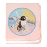 St. Bernard Angel Dog baby blanket