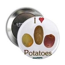 "I Heart Potatoes 2.25"" Button (10 pack)"