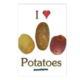 I Heart Potatoes Postcards (Package of 8)