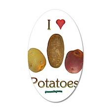 I Heart Potatoes 22x14 Oval Wall Peel