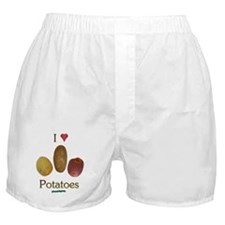 I Heart Potatoes Boxer Shorts