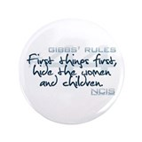"Gibbs' Rules #44 3.5"" Button (100 pack)"