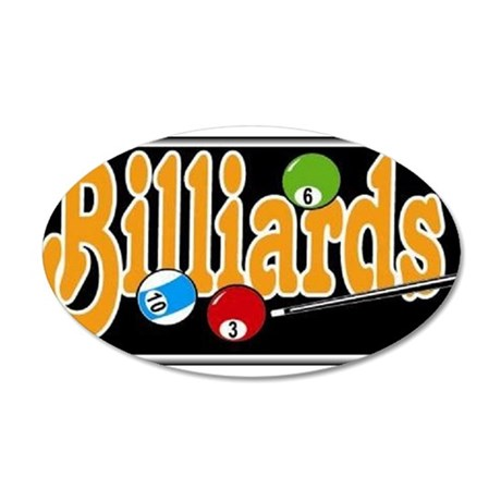 Billiards 22x14 Oval Wall Peel