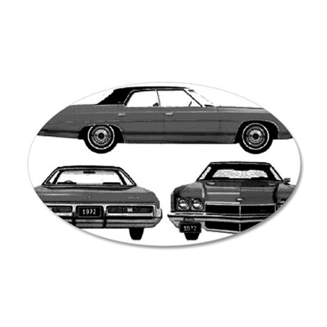 Chevy Caprice 38.5 x 24.5 Oval Wall Peel