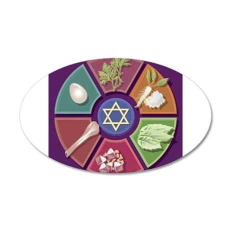 Seder Plate Other 22x14 Oval Wall Peel