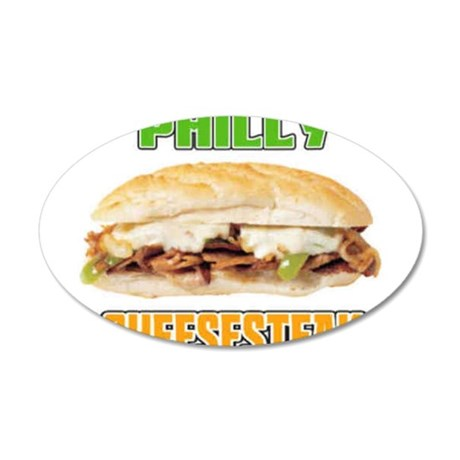 Philly CheeseSteak 38.5 x 24.5 Oval Wall Peel