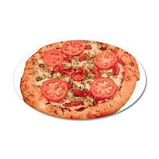 Vegetable Pie 38.5 x 24.5 Oval Wall Peel
