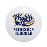 Music Teacher Ornament (Round)