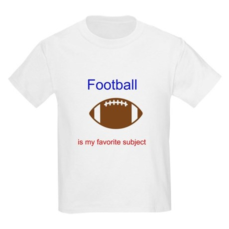 Football is my favorite subje Kids Light T-Shirt