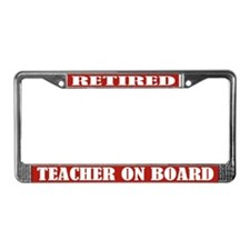 Retired Teacher License Plate Frame