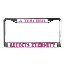 A Teacher License Plate Frame