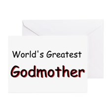 Greatest Godmother Greeting Cards (Pk of 10)