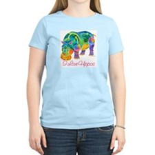 I Love Hippos of Many Colors T-Shirt