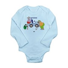 Playing Golf Long Sleeve Infant Bodysuit