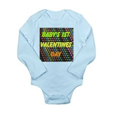 Baby's 1st Valentines Day Long Sleeve Infant Bodys
