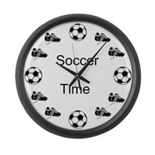 Soccer Time Large Wall Clock