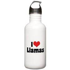 I Love Llamas Water Bottle