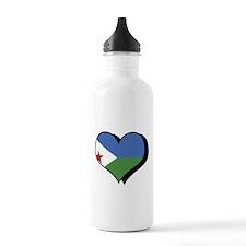 I Love Djibouti Water Bottle
