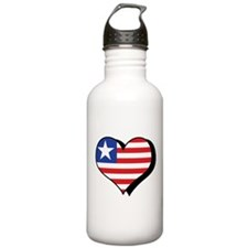 I Love Liberia Water Bottle