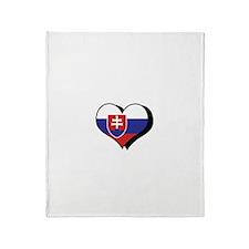 I Love Slovakia Throw Blanket