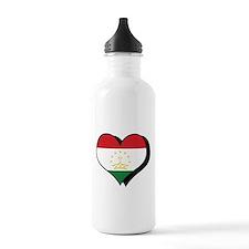I Love Tajikistan Water Bottle