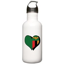 I Love Zambia Water Bottle