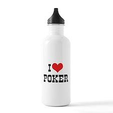 I Love Poker 3 Sports Water Bottle