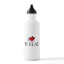I Love To Read Water Bottle