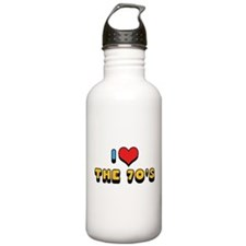 I Love The 70's 2 Water Bottle