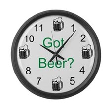 Got Beer? Large Wall Clock