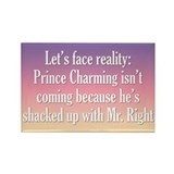 Prince Charming &amp; Mr. Right Rectangle Magnet (10 p
