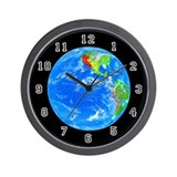 <b>PLANETARY SERIES:</b> Earth Wall Clock