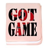 Got Game Black Red baby blanket